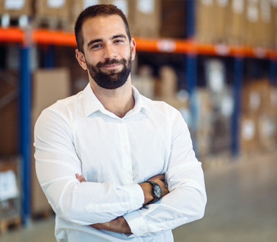 Employee in warehouse